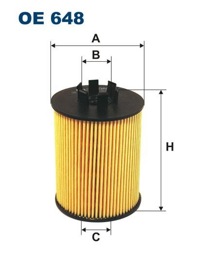 Filtr oleju OE 648 (OE648) FILTRON