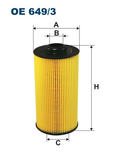 Filtr oleju OE 649/3 (OE6493) FILTRON