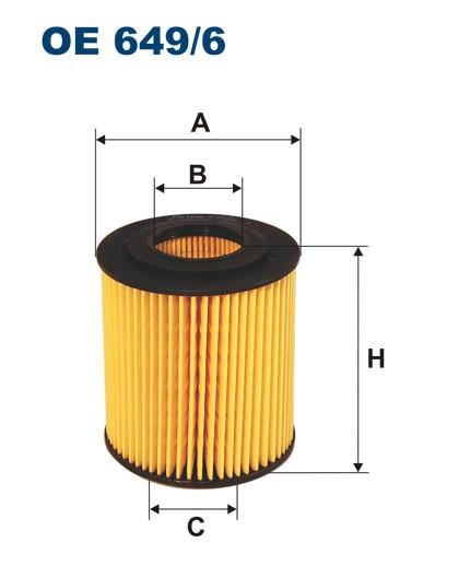 Filtr oleju OE 649/6 (OE6496) FILTRON