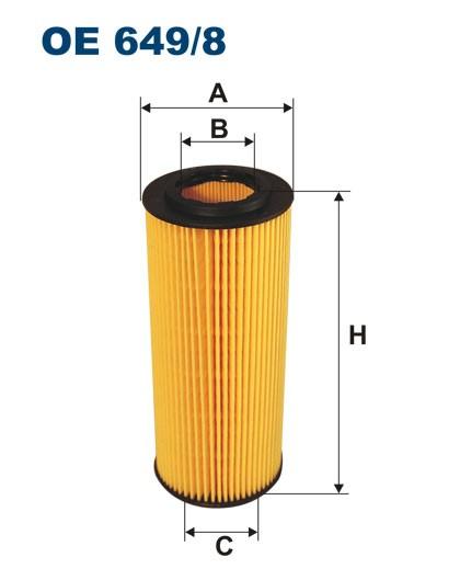 Filtr oleju OE 649/8 (OE6498) FILTRON