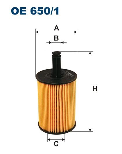 Filtr oleju OE 650/1 (OE6501) FILTRON