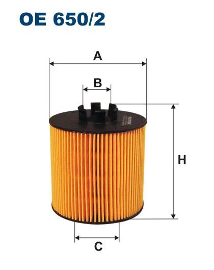 Filtr oleju OE 650/2 (OE6502) FILTRON