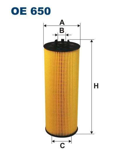 Filtr oleju OE 650 (OE650) FILTRON
