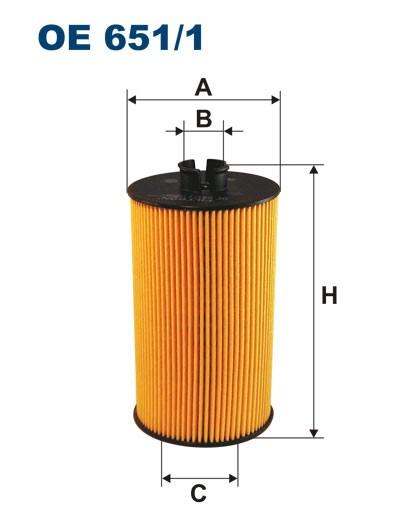 Filtr oleju OE 651/1 (OE6511) FILTRON