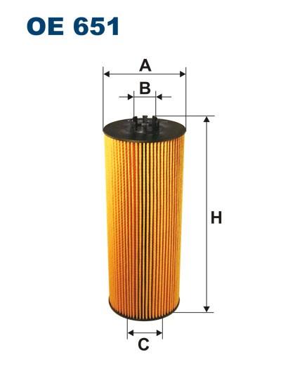 Filtr oleju OE 651 (OE651) FILTRON