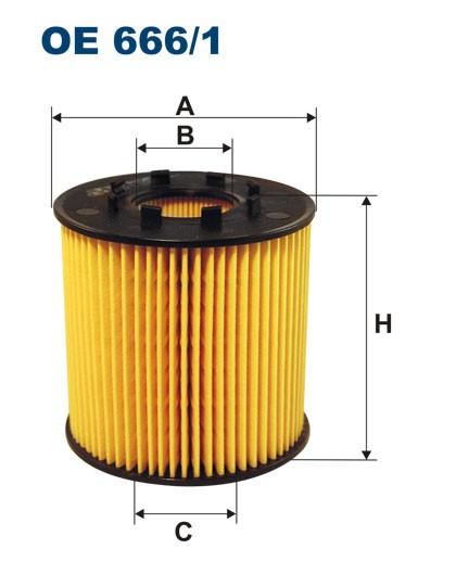 Filtr oleju OE 666/1 (OE6661) FILTRON