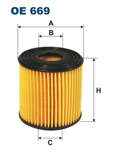 Filtr oleju OE 669 (OE669) FILTRON