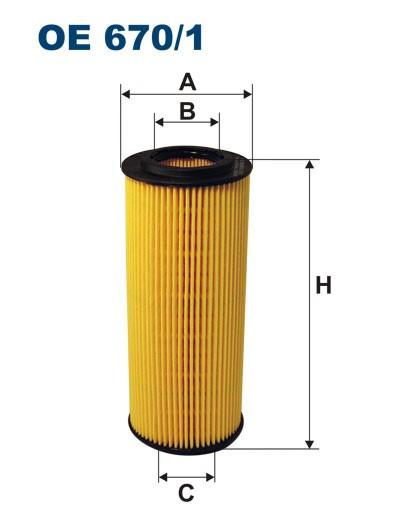 Filtr oleju OE 670/1 (OE6701) FILTRON