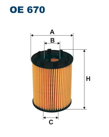 Filtr oleju OE 670 (OE670) FILTRON