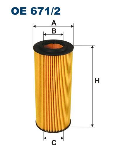 Filtr oleju OE 671/2 (OE6712) FILTRON