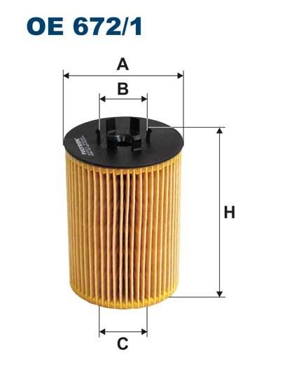 Filtr oleju OE 672/1 (OE6721) FILTRON