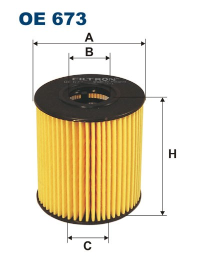 Filtr oleju OE 673 FILTRON [OE673]