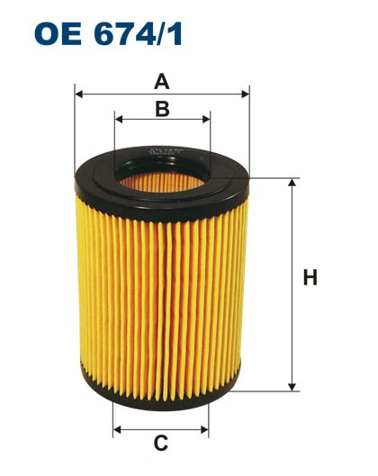 Filtr oleju OE 674/1 (OE6741) FILTRON