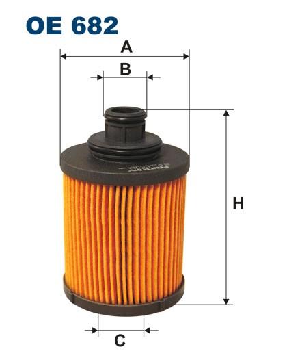 Filtr oleju OE 682 (OE682) FILTRON