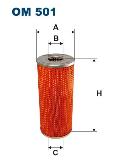 Filtr oleju OM 501 (OM501) FILTRON
