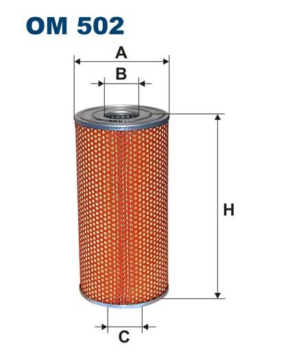 Filtr oleju OM 502 (OM502) FILTRON