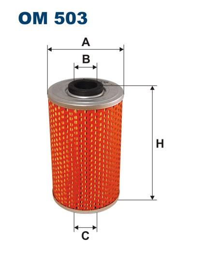 Filtr oleju OM 503 (OM503) FILTRON