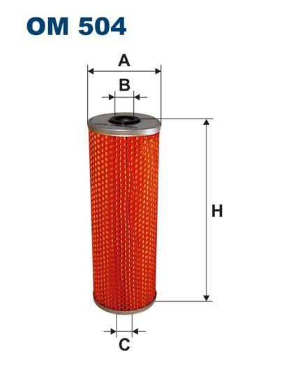 Filtr oleju OM 504 (OM504) FILTRON