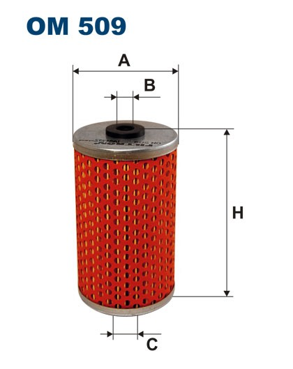 Filtr oleju OM 509 (OM509) FILTRON