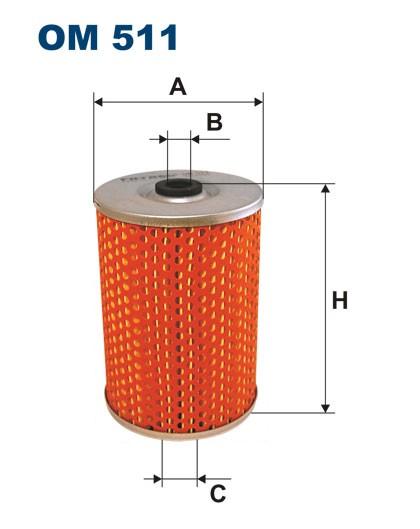 Filtr oleju OM 511 (OM511) FILTRON