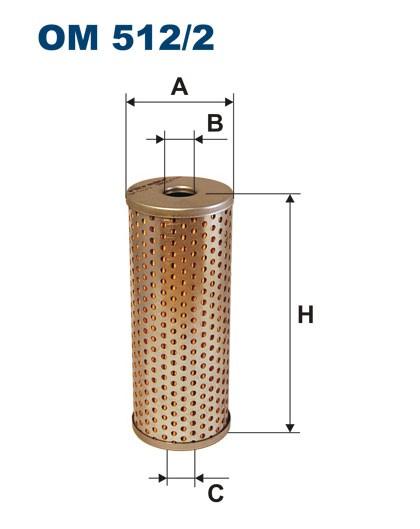 Filtr oleju OM 512/2 (OM5122) FILTRON