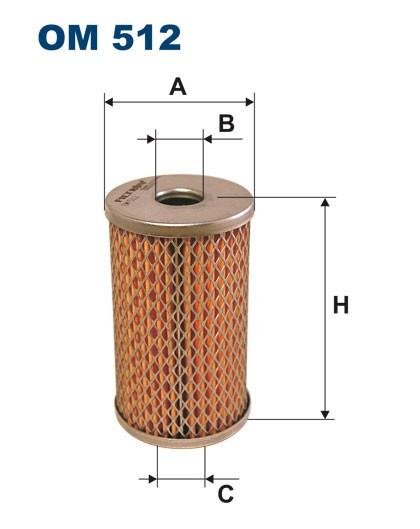 Filtr oleju OM 512 (OM512) FILTRON