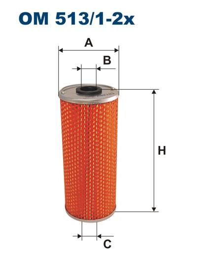 Filtr oleju OM 513/1-2x (OM51312X) FILTRON
