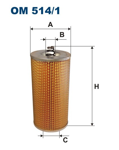Filtr oleju OM 514/1 (OM5141) FILTRON