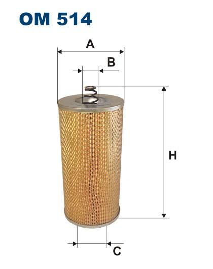 Filtr oleju OM 514 (OM514) FILTRON