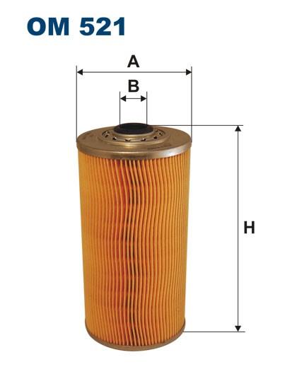 Filtr oleju OM 521 (OM521) FILTRON