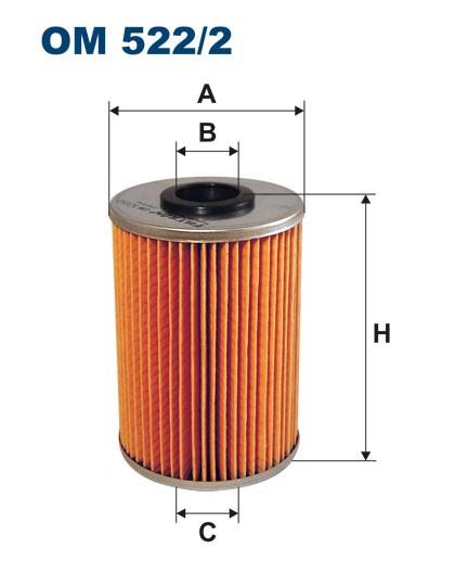 Filtr oleju OM 522/2 (OM5222) FILTRON
