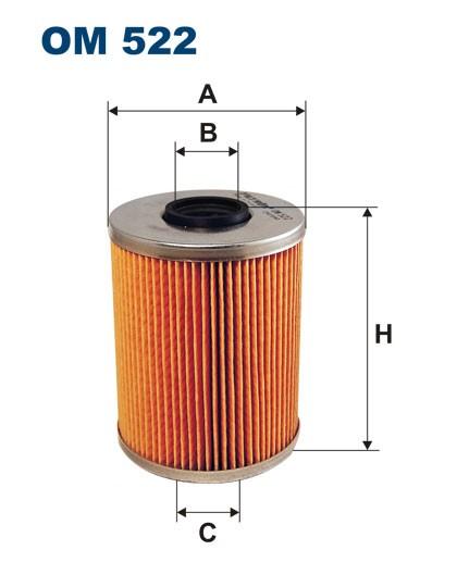 Filtr oleju OM 522 (OM522) FILTRON