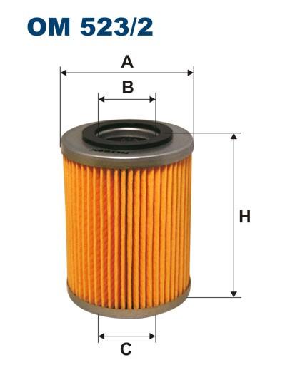 Filtr oleju OM 523/2 (OM5232) FILTRON