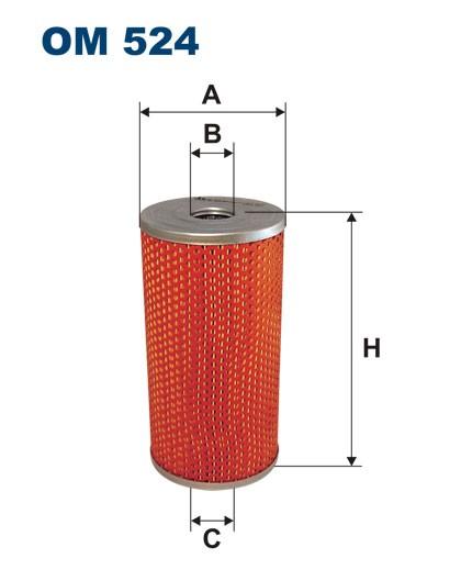 Filtr oleju OM 524 (OM524) FILTRON