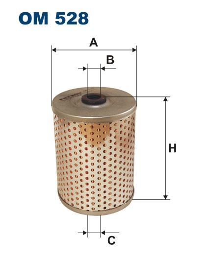 Filtr oleju OM 528 (OM528) FILTRON