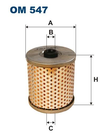 Filtr oleju OM 547 (OM547) FILTRON