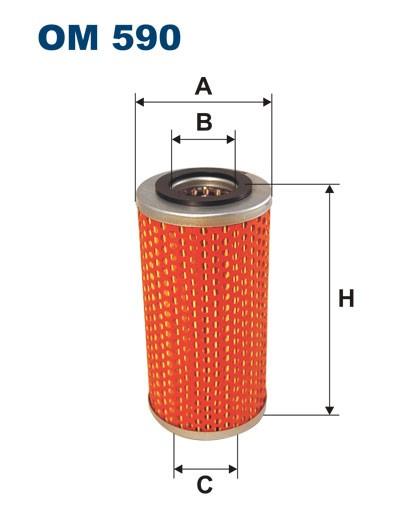 Filtr oleju OM 590 (OM590) FILTRON