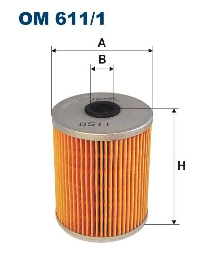 Filtr oleju OM 611/1 (OM6111) FILTRON