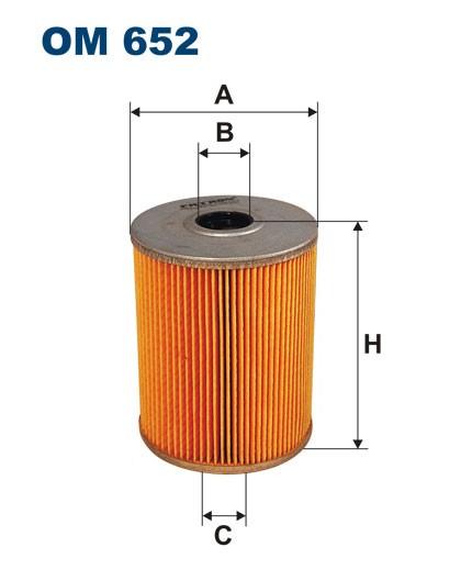 Filtr oleju OM 652 (OM652) FILTRON