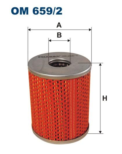 Filtr oleju OM 659/2 (OM6592) FILTRON