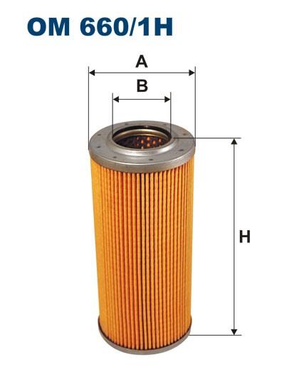 Filtr oleju OM 660/1H (OM6601H) FILTRON