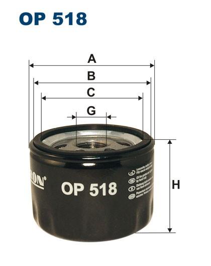 Filtr oleju OP 518 [OP518] FILTRON