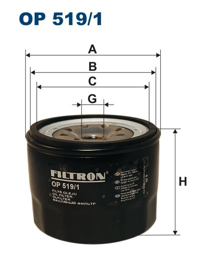 Filtr oleju OP 519/1 [OP5191] FILTRON