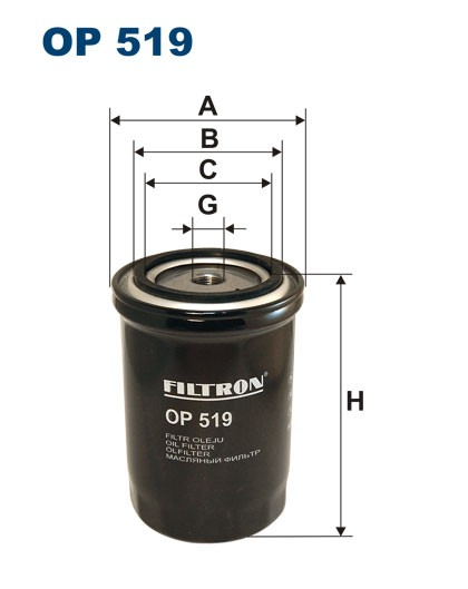Filtr oleju OP 519 [OP519] FILTRON