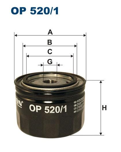 Filtr oleju OP 520/1 [OP5201] FILTRON