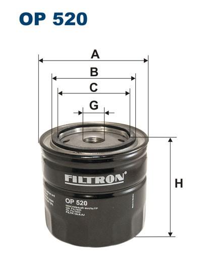 Filtr oleju OP 520 [OP520] FILTRON