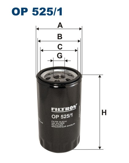 Filtr oleju OP 525/1 [OP5251] FILTRON