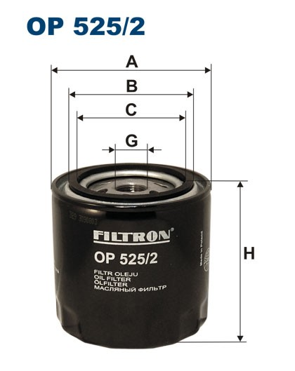 Filtr oleju OP 525/2 [OP5252] FILTRON