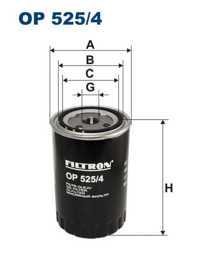 Filtr oleju OP 525/4 [OP5254] FILTRON
