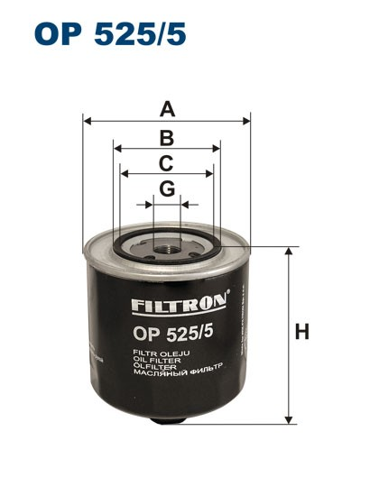 Filtr oleju OP 525/5 [OP5255] FILTRON